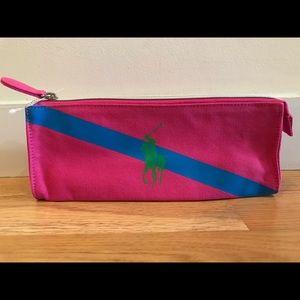 New Ralph Lauren gwp Zip canvas bag in pink
